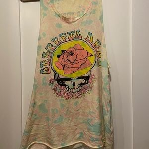 Junk Food Grateful Dead tie-dye loose fitting tank